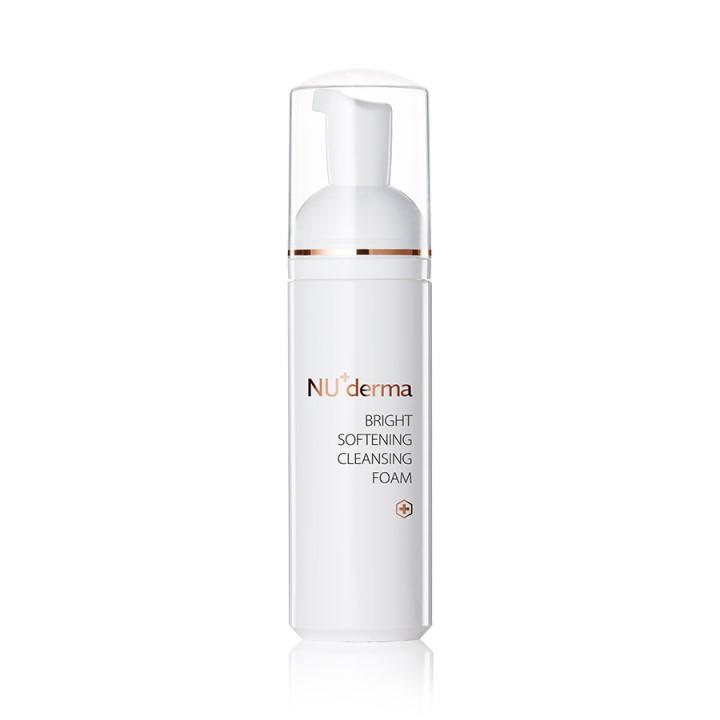 簡單保養步驟洗臉產品:NU+derma 晨光淨透潔顏慕斯