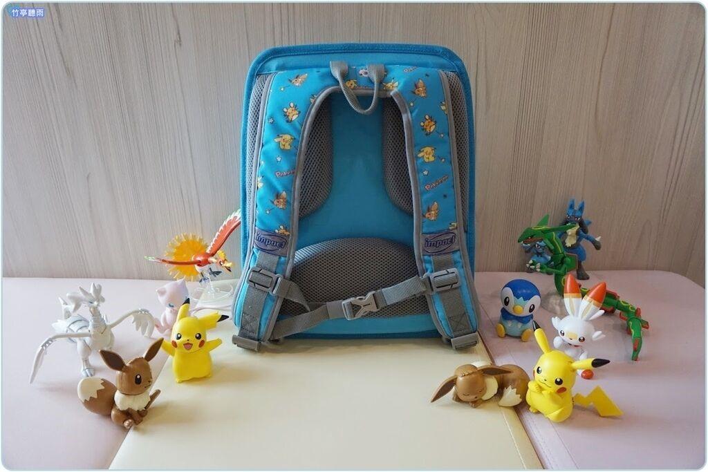 寶可夢超輕量護脊書包-淺藍
