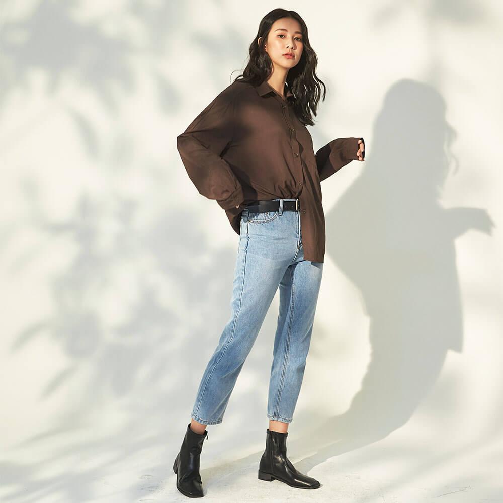 韓國女生很適合穿牛仔褲
