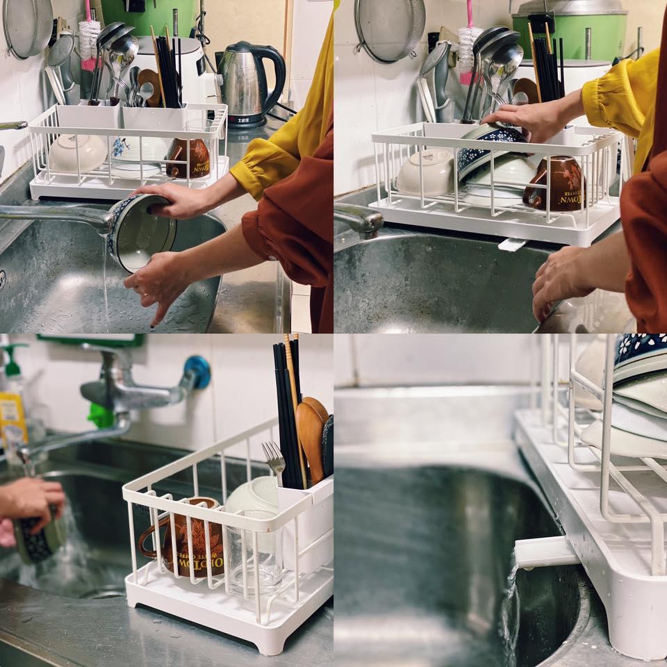 AQUA分拆式瀝水架(白) 山崎收納 Yamazaki 廚房收納